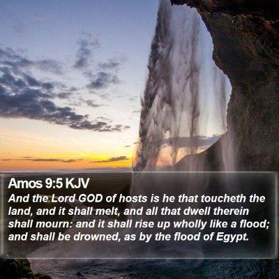 Amos 9:5 KJV Bible Verse Image