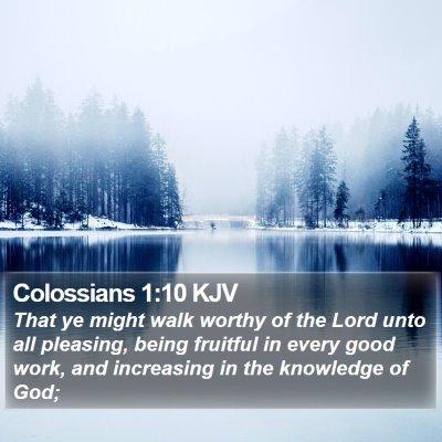 Colossians 1:10 KJV Bible Verse Image
