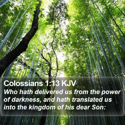 Colossians 1:13 KJV Bible Verse Image