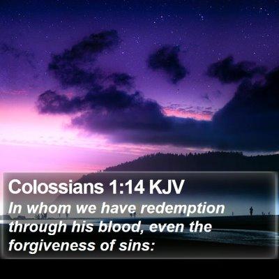 Colossians 1:14 KJV Bible Verse Image