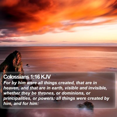 Colossians 1:16 KJV Bible Verse Image