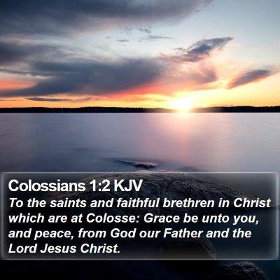 Colossians 1:2 KJV Bible Verse Image