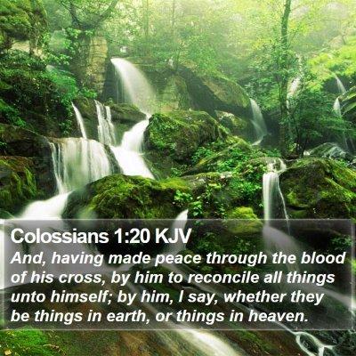 Colossians 1:20 KJV Bible Verse Image
