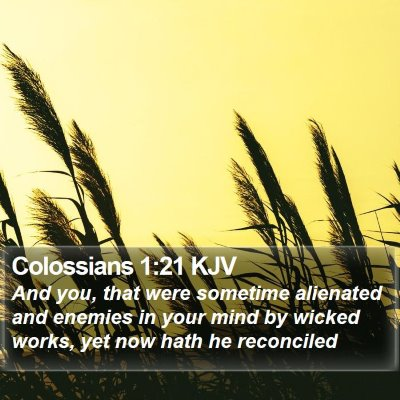 Colossians 1:21 KJV Bible Verse Image