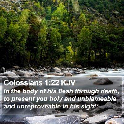 Colossians 1:22 KJV Bible Verse Image