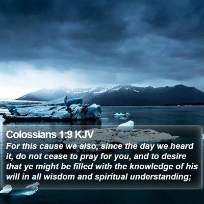 Colossians 1:9 KJV Bible Verse Image