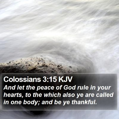 Colossians 3:15 KJV Bible Verse Image