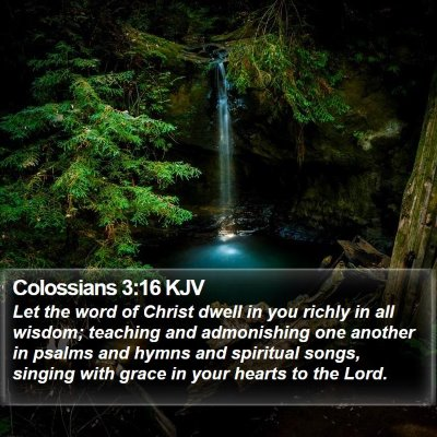 Colossians 3:16 KJV Bible Verse Image