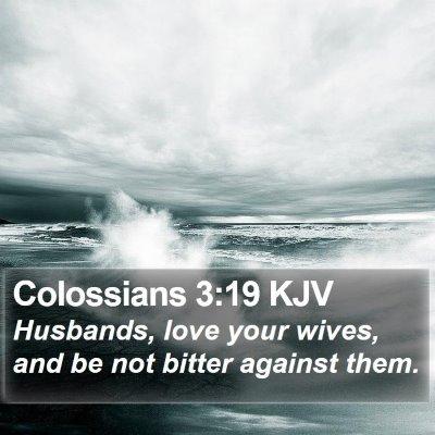 Colossians 3:19 KJV Bible Verse Image