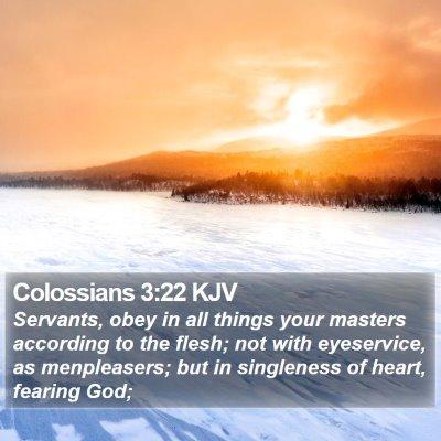 Colossians 3:22 KJV Bible Verse Image
