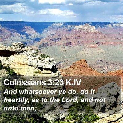Colossians 3:23 KJV Bible Verse Image