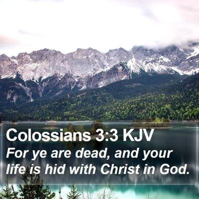 Colossians 3:3 KJV Bible Verse Image