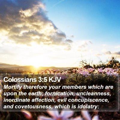 Colossians 3:5 KJV Bible Verse Image