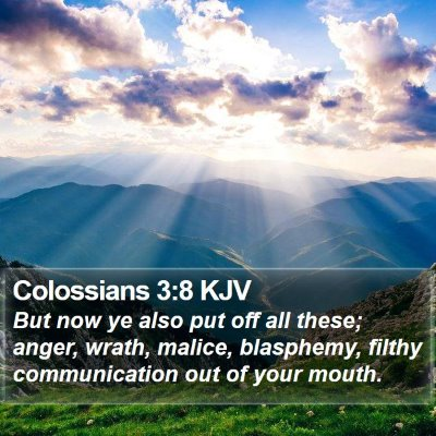 Colossians 3:8 KJV Bible Verse Image