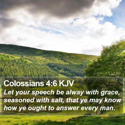 Colossians 4:6 KJV Bible Verse Image