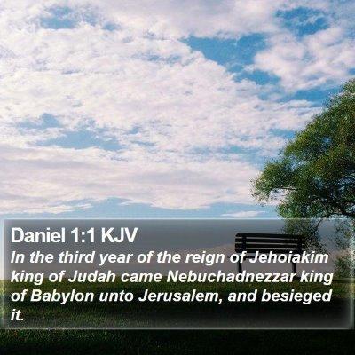 Daniel 1:1 KJV Bible Verse Image