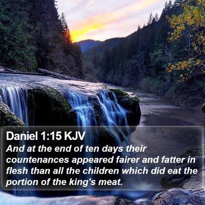 Daniel 1:15 KJV Bible Verse Image