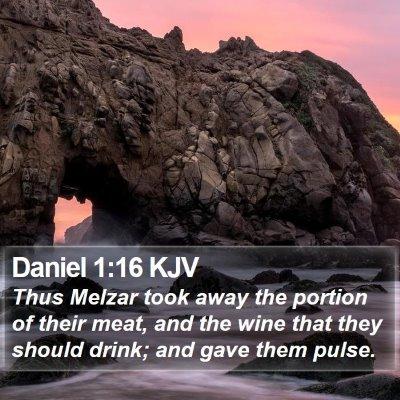 Daniel 1:16 KJV Bible Verse Image