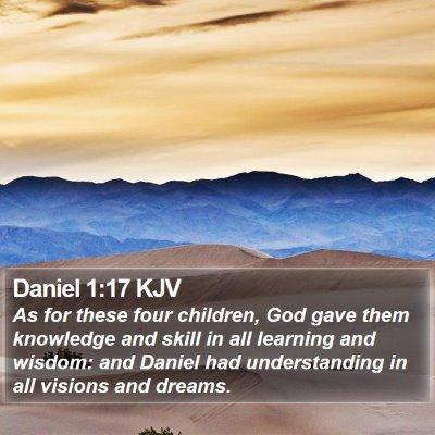 Daniel 1:17 KJV Bible Verse Image