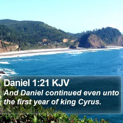 Daniel 1:21 KJV Bible Verse Image