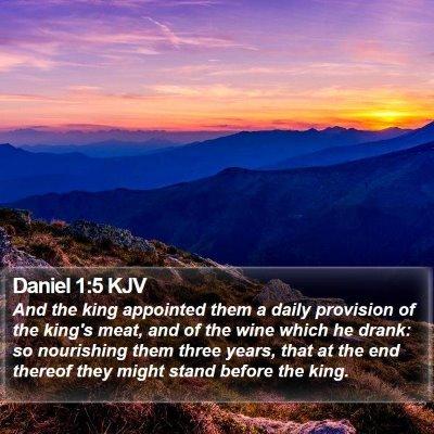 Daniel 1:5 KJV Bible Verse Image