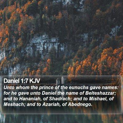 Daniel 1:7 KJV Bible Verse Image
