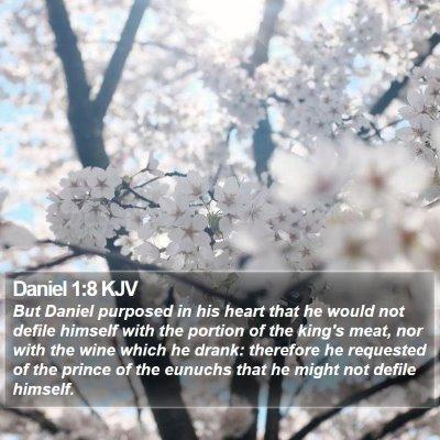 Daniel 1:8 KJV Bible Verse Image