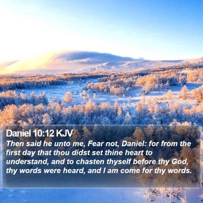 Daniel 10:12 KJV Bible Verse Image