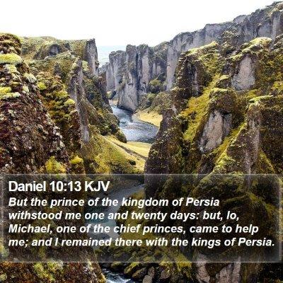 Daniel 10:13 KJV Bible Verse Image