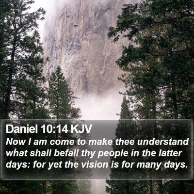 Daniel 10:14 KJV Bible Verse Image