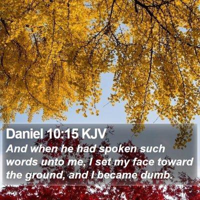 Daniel 10:15 KJV Bible Verse Image