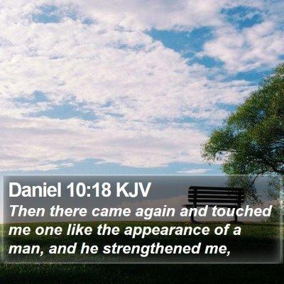 Daniel 10:18 KJV Bible Verse Image