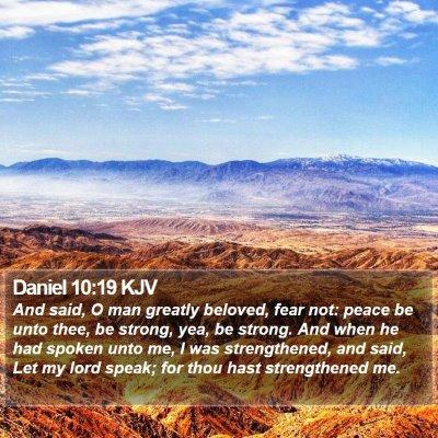 Daniel 10:19 KJV Bible Verse Image