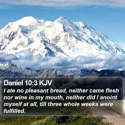 Daniel 10:3 KJV Bible Verse Image
