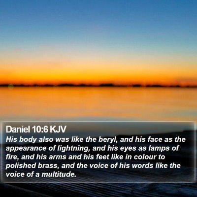 Daniel 10:6 KJV Bible Verse Image