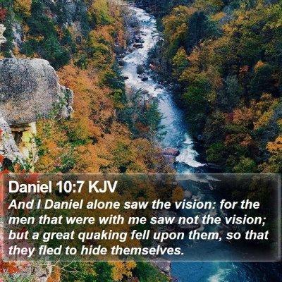Daniel 10:7 KJV Bible Verse Image