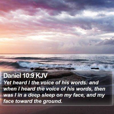 Daniel 10:9 KJV Bible Verse Image