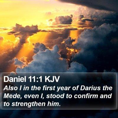 Daniel 11:1 KJV Bible Verse Image