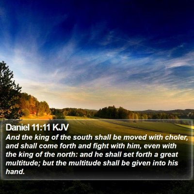Daniel 11:11 KJV Bible Verse Image
