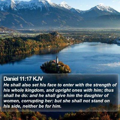 Daniel 11:17 KJV Bible Verse Image