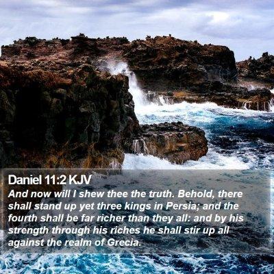 Daniel 11:2 KJV Bible Verse Image