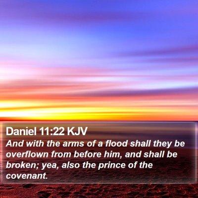 Daniel 11:22 KJV Bible Verse Image