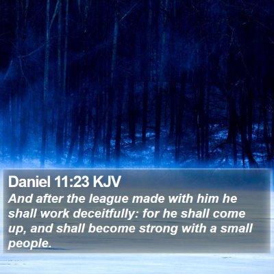Daniel 11:23 KJV Bible Verse Image
