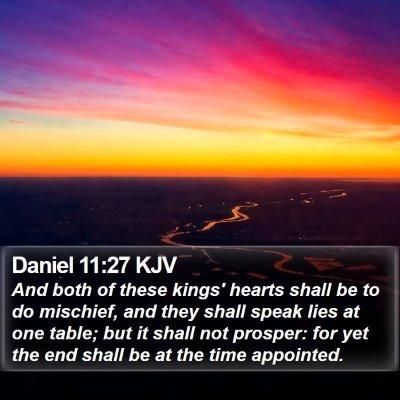 Daniel 11:27 KJV Bible Verse Image