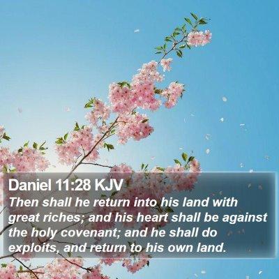 Daniel 11:28 KJV Bible Verse Image