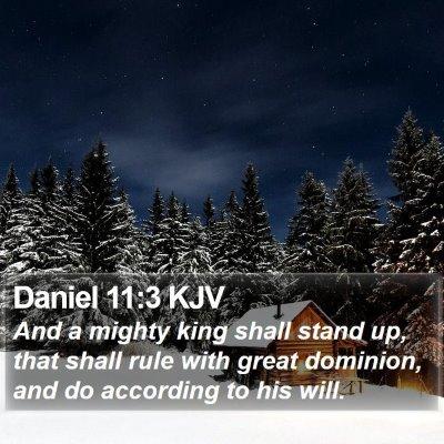 Daniel 11:3 KJV Bible Verse Image