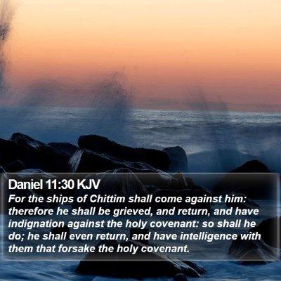 Daniel 11:30 KJV Bible Verse Image