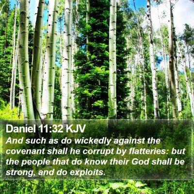 Daniel 11:32 KJV Bible Verse Image
