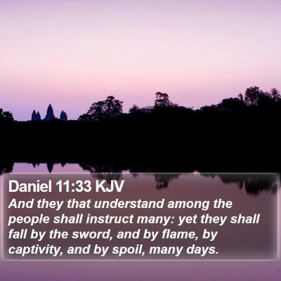 Daniel 11:33 KJV Bible Verse Image