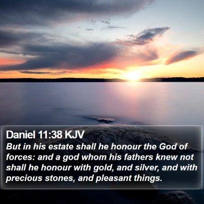 Daniel 11:38 KJV Bible Verse Image